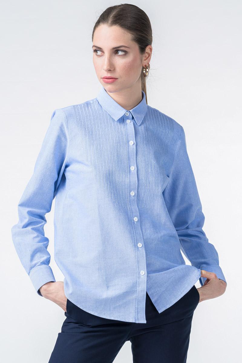 Ženska nebesko plava košulja