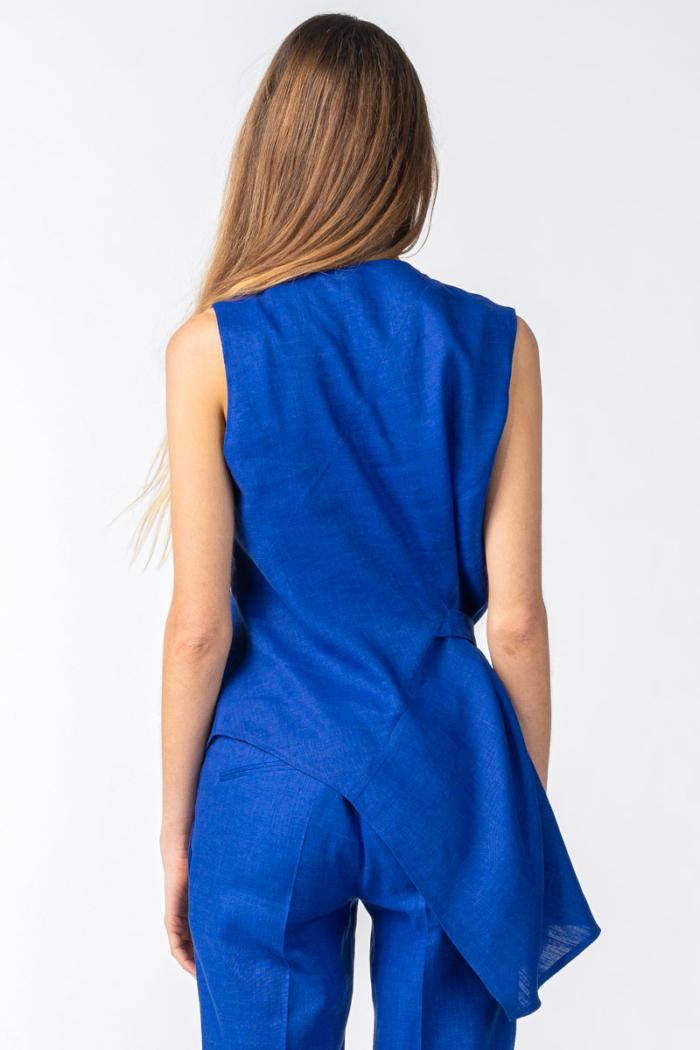 Varteks Women's indigo blue sleeveless blouse