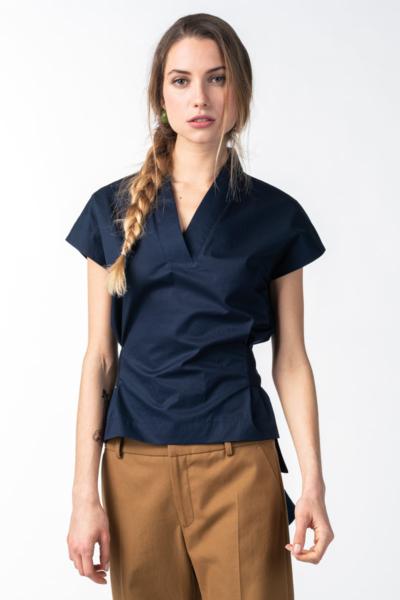 Tamno plava ženska bluza