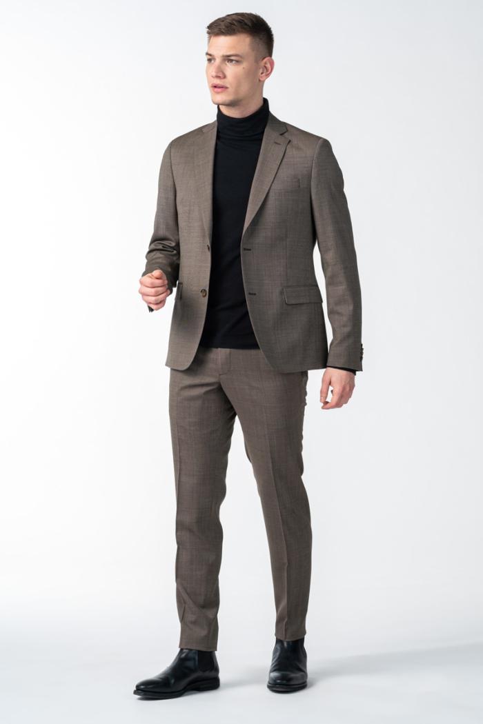 Varteks Muške hlače od runske vune - Super 100's - Slim fit
