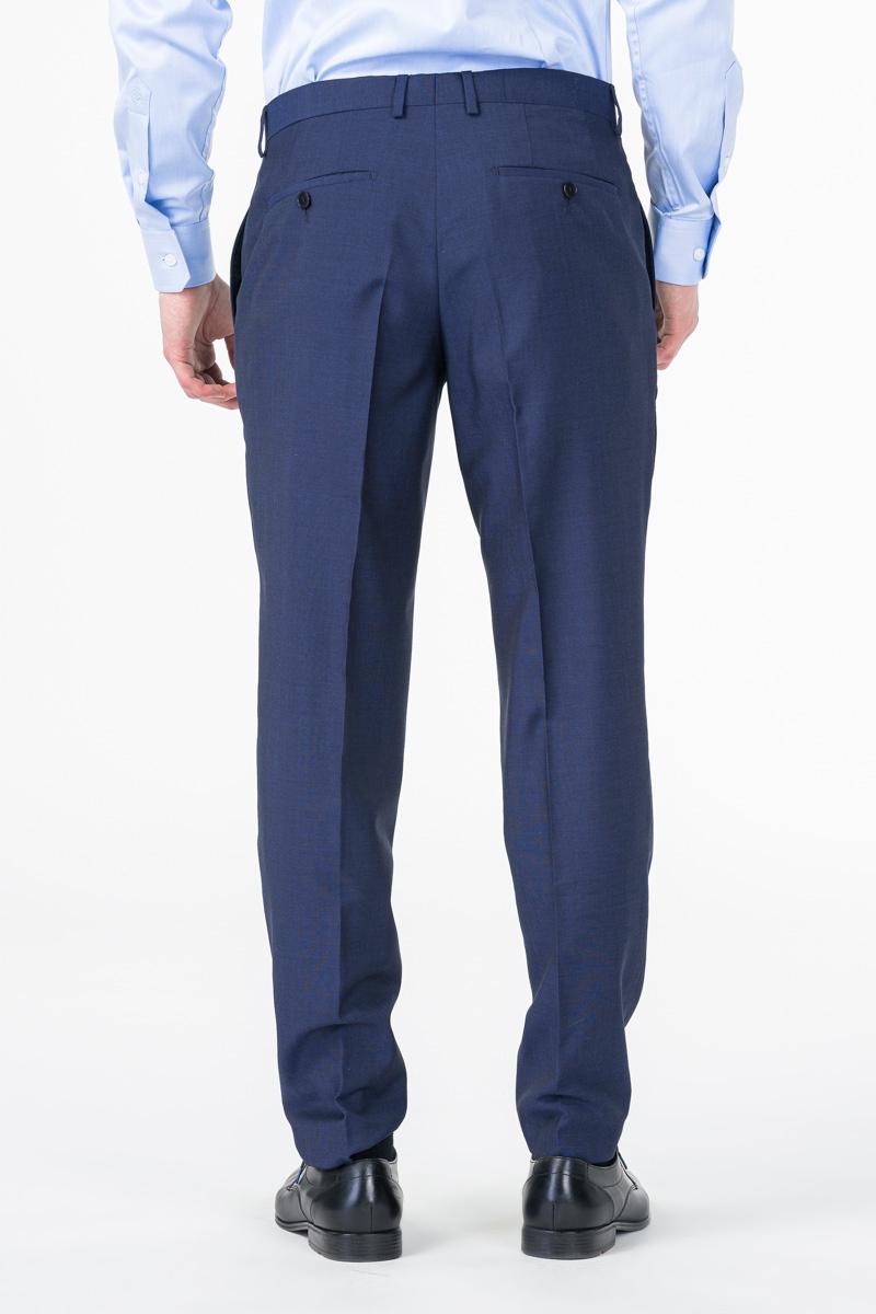 Limited Edition - Tamno plave muške hlače od odijela - Regular fit