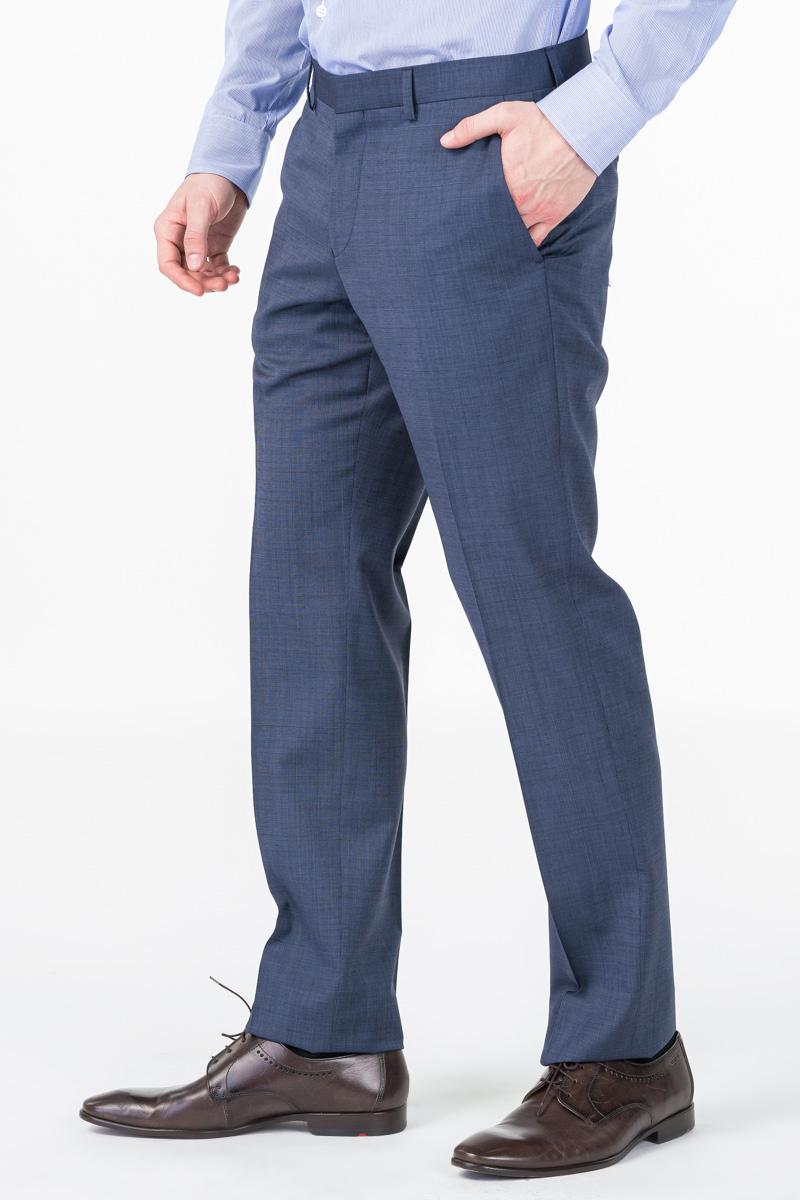 Varteks Tamno plave muške hlače od odijela - Super 100's - Regular fit
