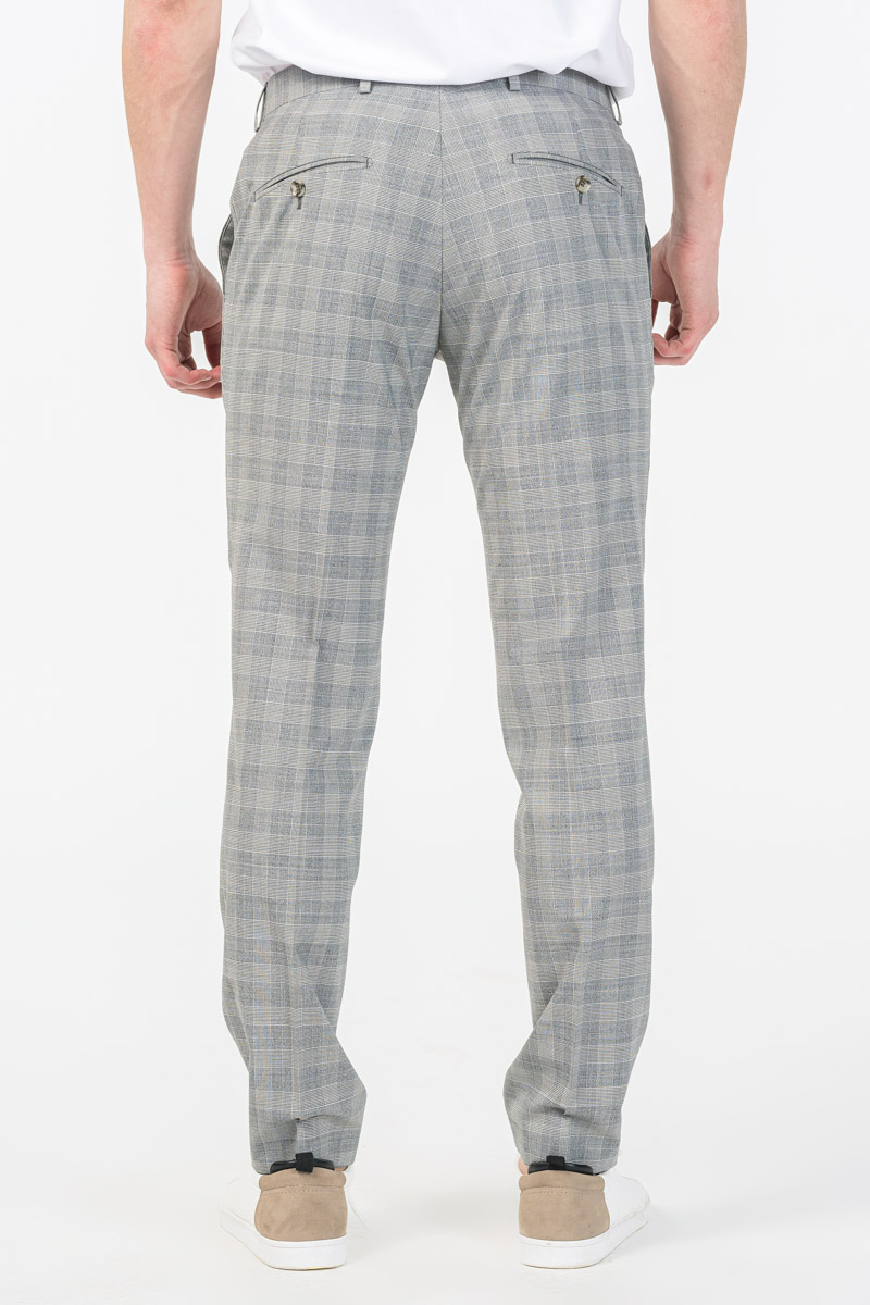 Varteks YOUNG - Men's suit trousers Prince of Wales - Slim fit