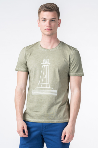 Varteks Men's T-shirt lighthouse motive