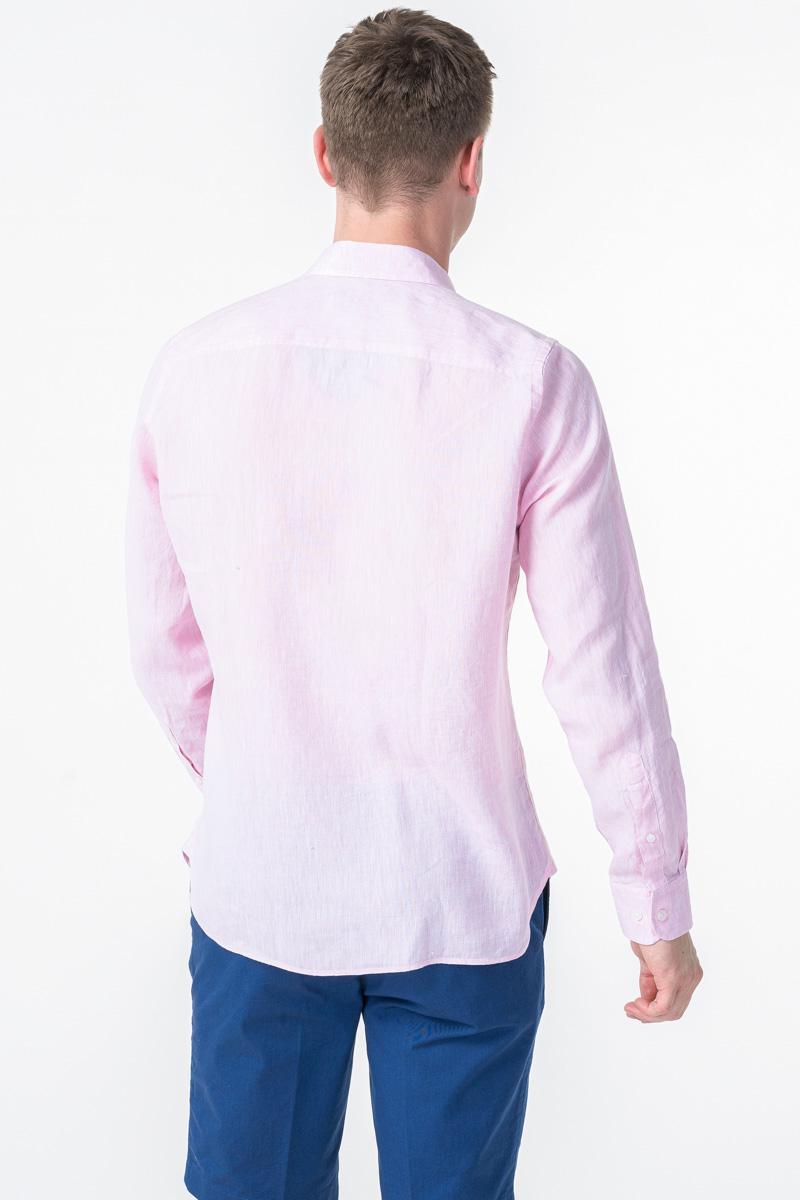 Varteks Men's linen pink shirt