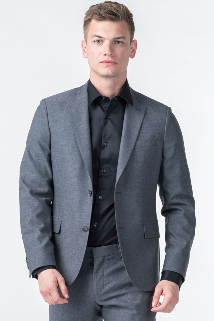 Sivi muški sako od odijela - Slim fit