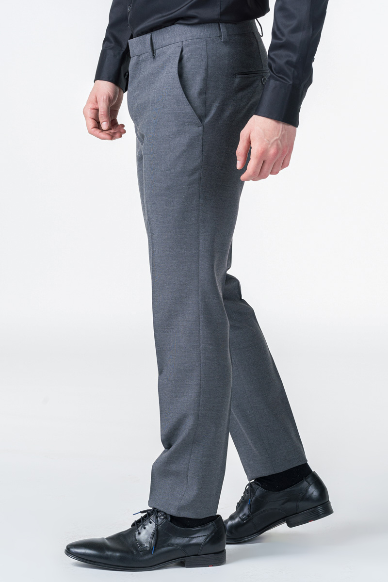 Sive muške hlače od odijela - Slim fit