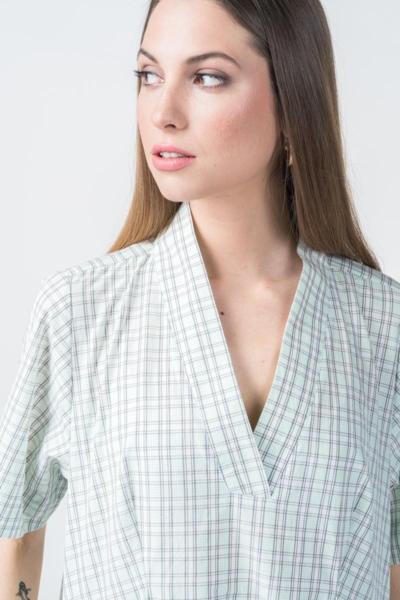 Varteks Plaid mint oversize dress