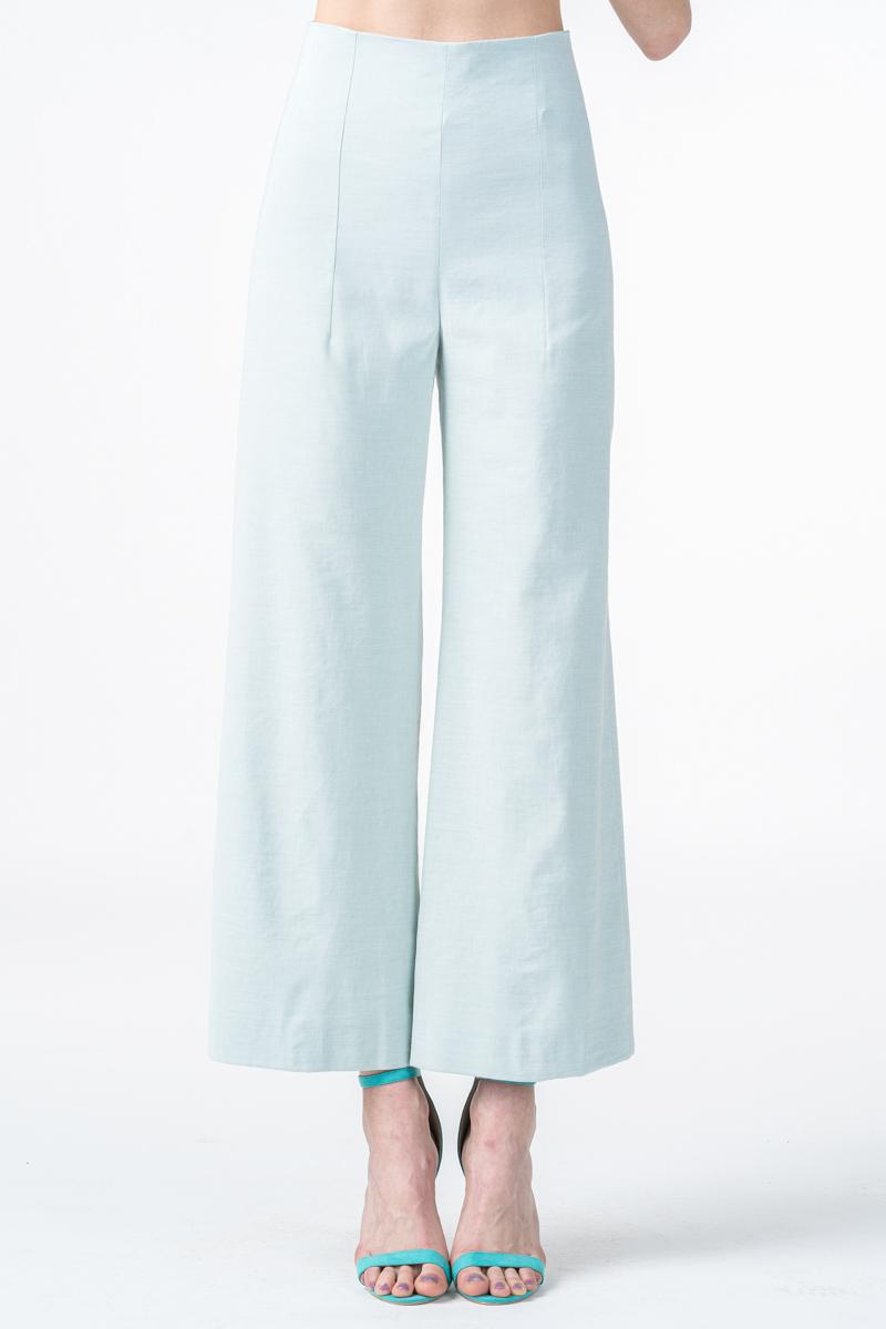 Ženske hlače 7/8 boje kadulje