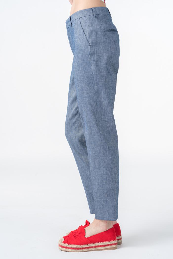 Ženske sive hlače ravnog kroja