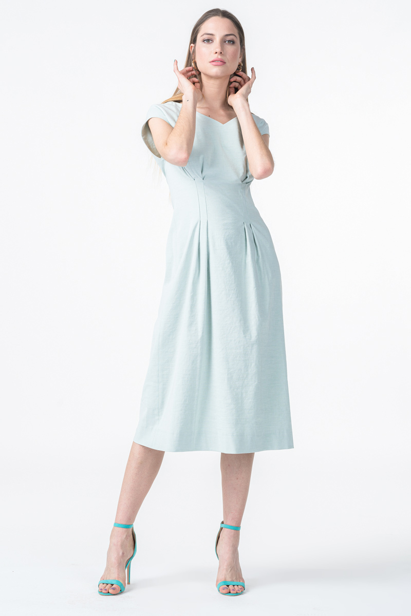 Varteks Pastel green sleeveless dress