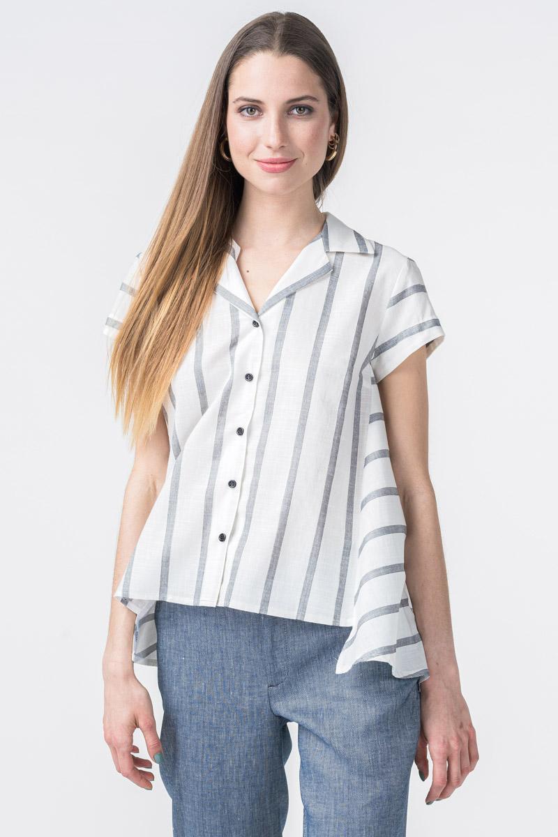 Varteks Prugasta ženska košulja kratkih rukava