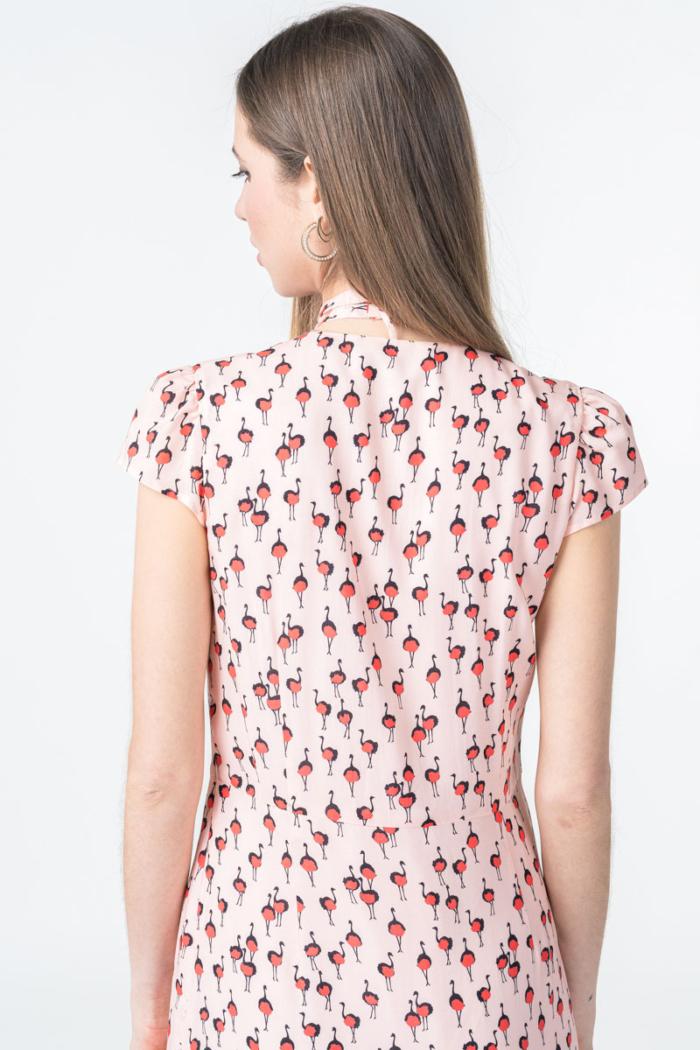 Varteks Ženska roza haljina s mašnom