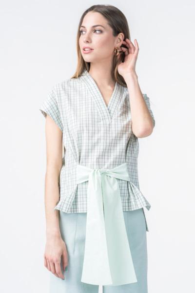 Varteks Women's mint plaid shirt