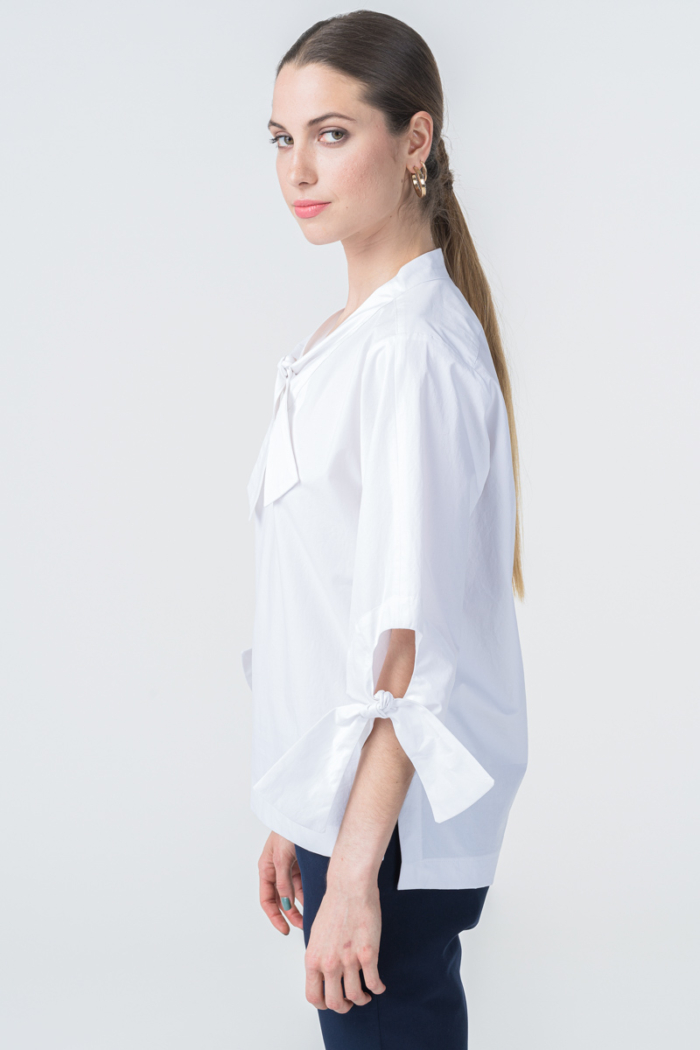 Varteks White women's shirt with bows