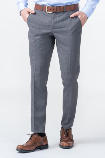 Varteks Limited Edition - Sive karirane hlače od odijela - Slim fit
