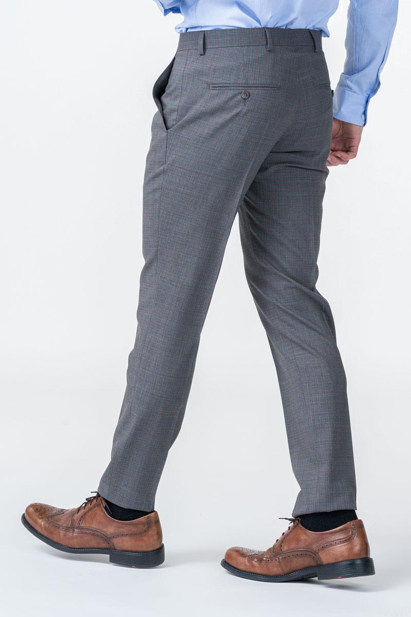 Limited Edition - Sive karirane hlače od odijela - Slim fit