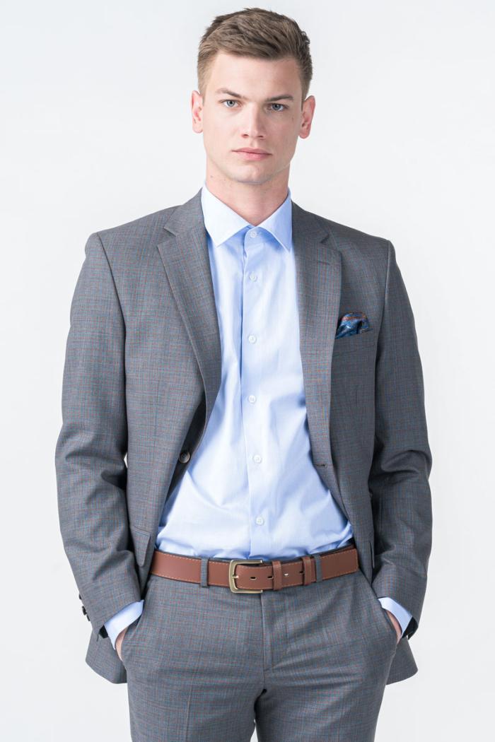 Limited Edition - Sivi karirani sako od odijela - Slim fit