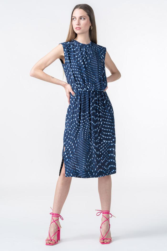 Varteks Tamno plava haljina s uzorkom