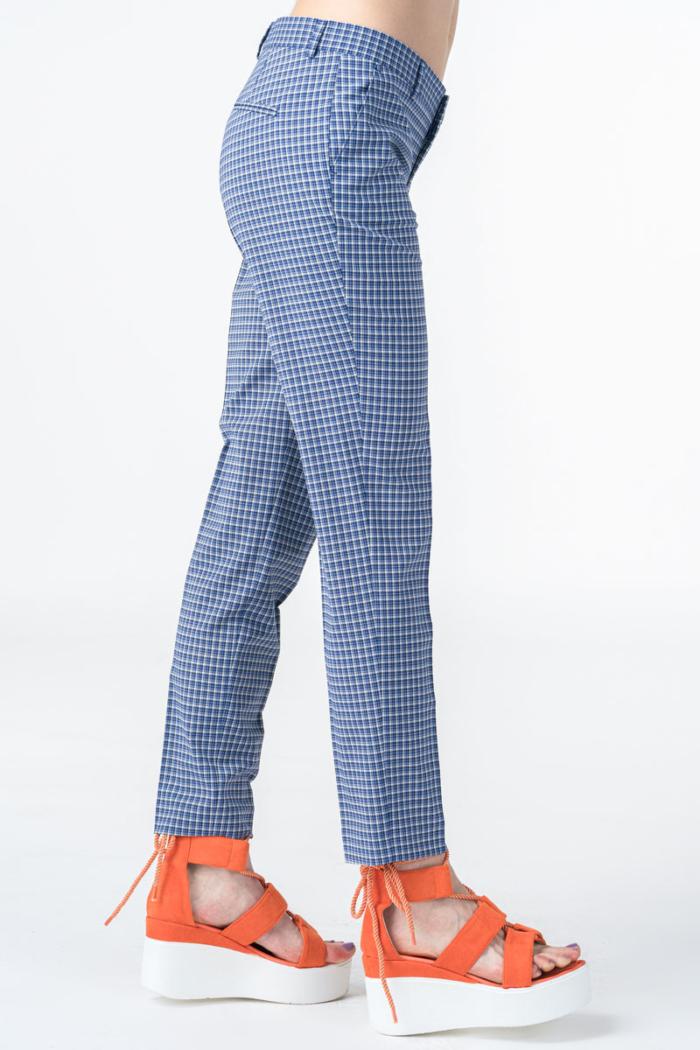 Ženske plave karirane hlače