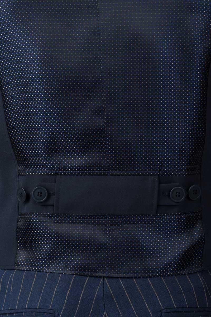 Tamno plavi muški prsluk - Slim fit