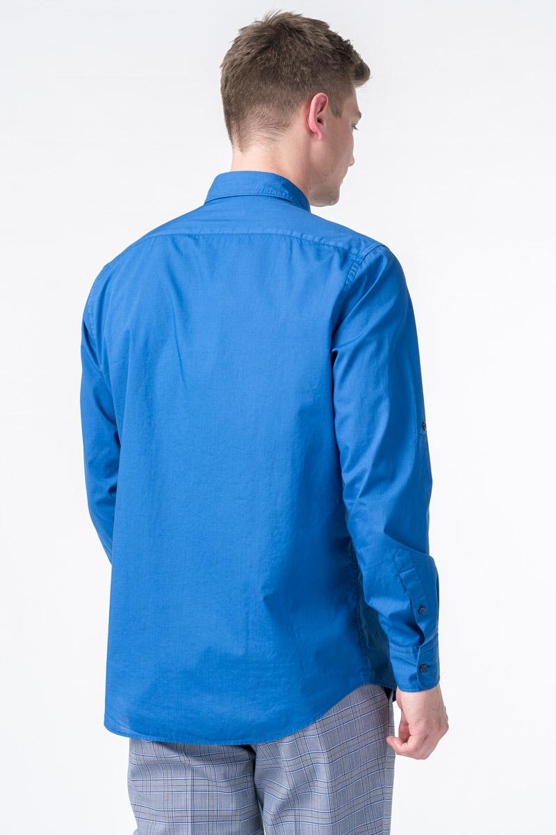 Muška plava pamučna košulja - Regular fit