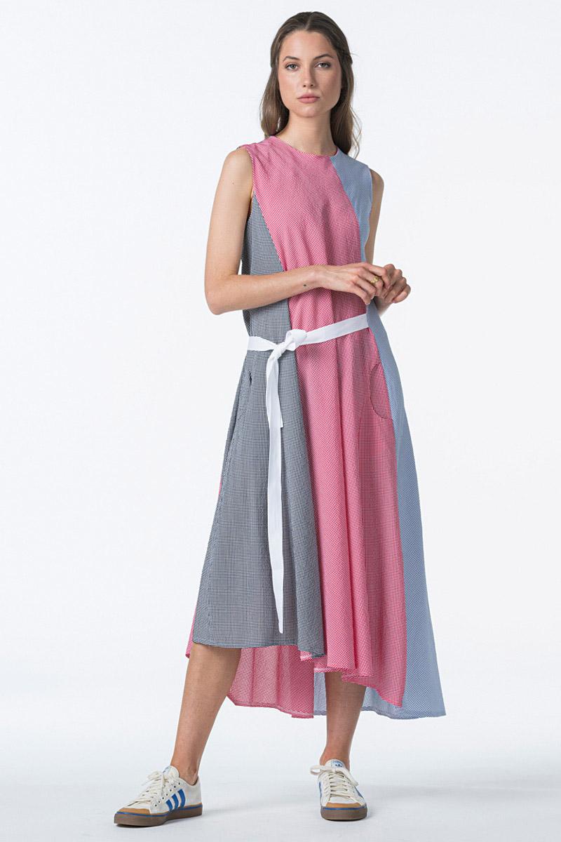 Women's tricolor dress